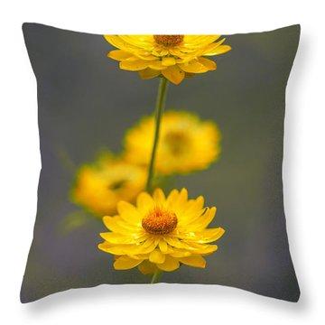 Hillflowers Throw Pillow by Az Jackson