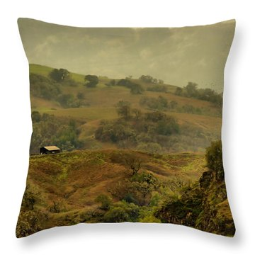 Hills Above Anderson Valley Throw Pillow