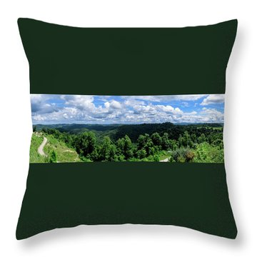 Hills And Clouds Throw Pillow