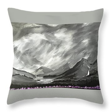 Throw Pillow featuring the painting Hills And Heather  by Scott Wilmot