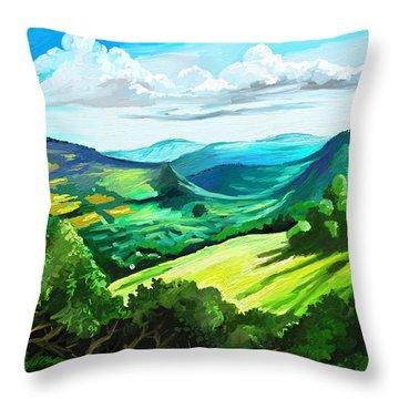 Hills Far Away Throw Pillow