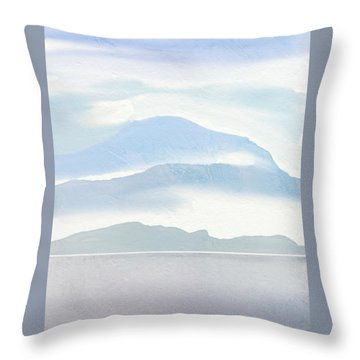 Hills In Borneo Throw Pillow