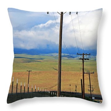 Hills Of Chatter Throw Pillow by Kathy Yates