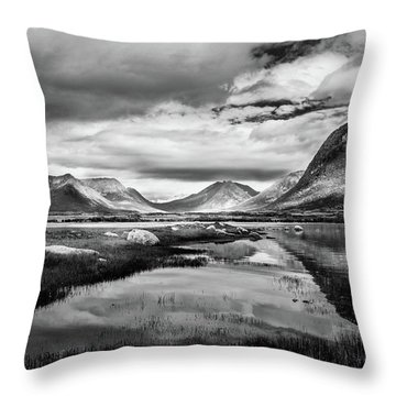 Hills Of Vesteralen Throw Pillow