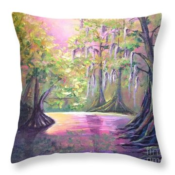 Withlacoochee River Nobleton Florida Throw Pillow