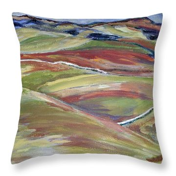 Northern Hills, Clare Island Throw Pillow
