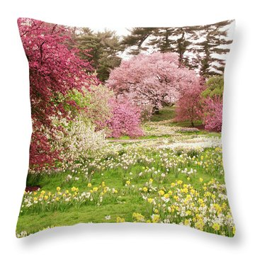 Throw Pillow featuring the photograph Hillside Bloom by Jessica Jenney