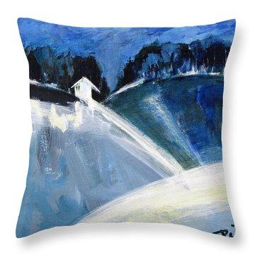 Hillside In Winter Throw Pillow