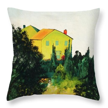 Hillside Romance Throw Pillow
