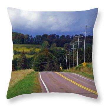 Hillside Ways Throw Pillow