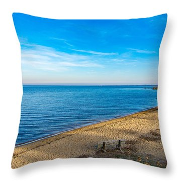 Hillsmere Beach On The Chesapeake Throw Pillow