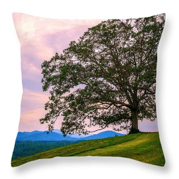 Hilltop Oak Throw Pillow