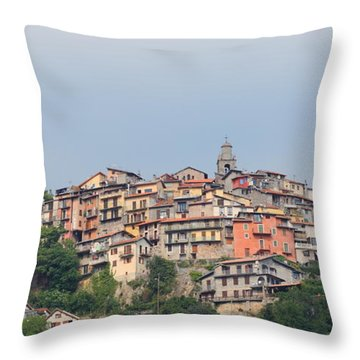 Throw Pillow featuring the photograph Hilltop by Richard Patmore