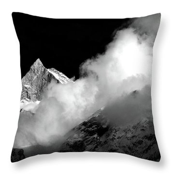 Himalayan Mountain Peak Throw Pillow