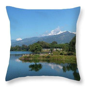 Himalayan Panorama Throw Pillow