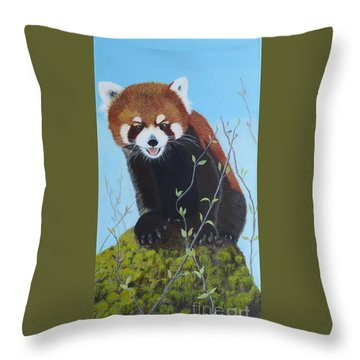 Himalayan Red Panda Throw Pillow
