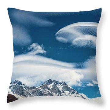 Throw Pillow featuring the photograph Himalayan Sky by Dan McGeorge