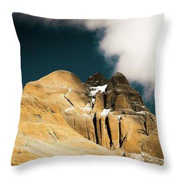 Himalayas Mountain Kailas Kora Tibet Yantra.lv Throw Pillow