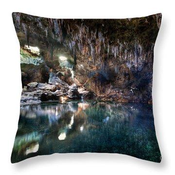 Throw Pillow featuring the photograph Hinagdanan Cave by Yhun Suarez