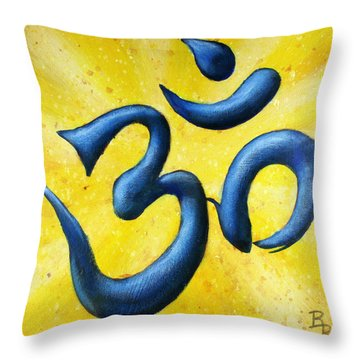 Hindu Om Symbol Art Throw Pillow