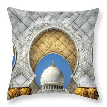 Hindu Temple Throw Pillow