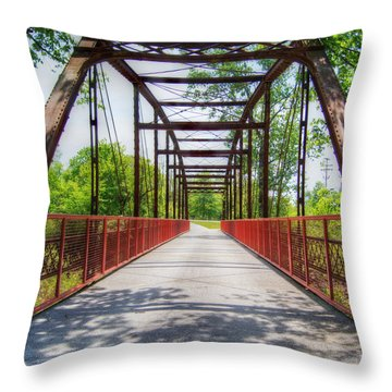 Hinkson Creek Bridge Throw Pillow by Cricket Hackmann