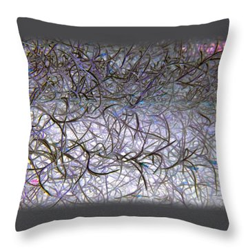 Hint Of Colour Throw Pillow