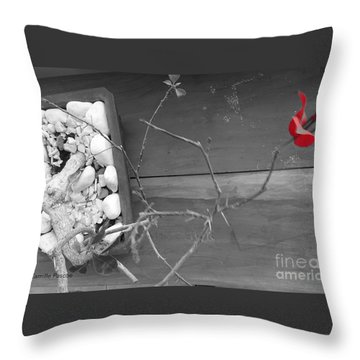 Hints Of Red Throw Pillow