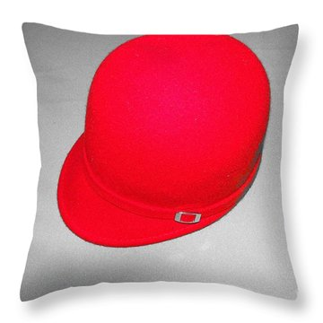 Hints Of Red - Hat Throw Pillow