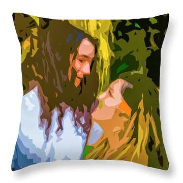 Hip Lovers Throw Pillow