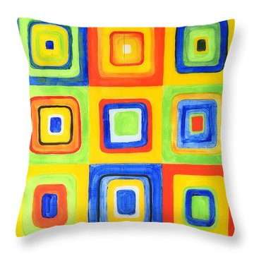 Hip To Be Square Throw Pillow