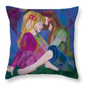 Hippie Love Throw Pillow