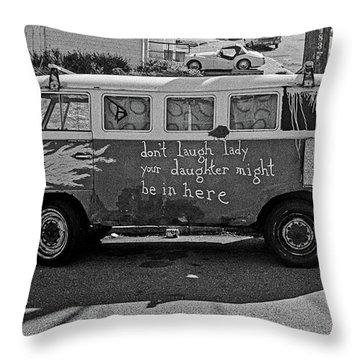 Hippie Van, San Francisco 1970's Throw Pillow