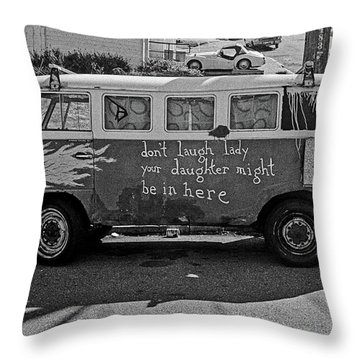 Hippie Van, San Francisco 1970's Throw Pillow