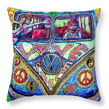 Hippie Throw Pillow by Viktor Lazarev