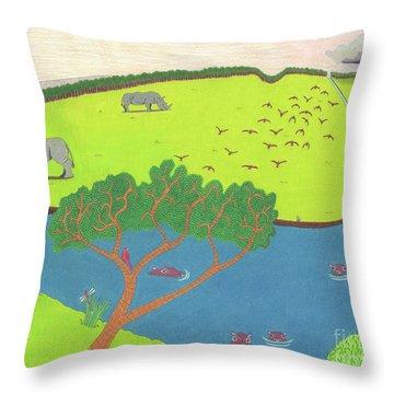 Hippo Awareness Throw Pillow
