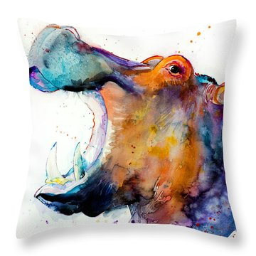 Hippopotamus Throw Pillows