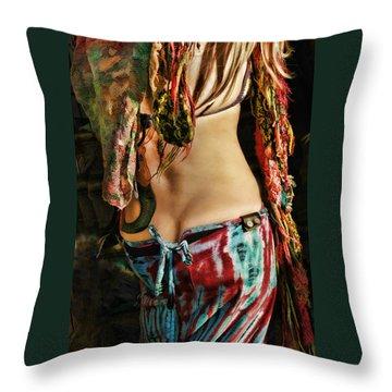 Hippy Back Throw Pillow by Blake Richards