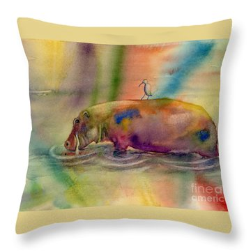 Hippy Dippy Throw Pillow by Amy Kirkpatrick