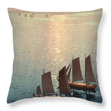 Hiroshi Yoshida, Hikaru Umi, The Sparkling Sea, 1926 Throw Pillow