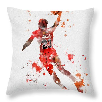 His Airness Throw Pillow by Rebecca Jenkins