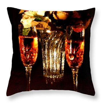 His And Hers Throw Pillow by Kristin Elmquist