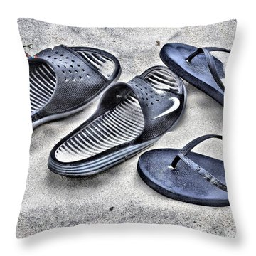 Throw Pillow featuring the photograph His And Hers by Laura Ragland