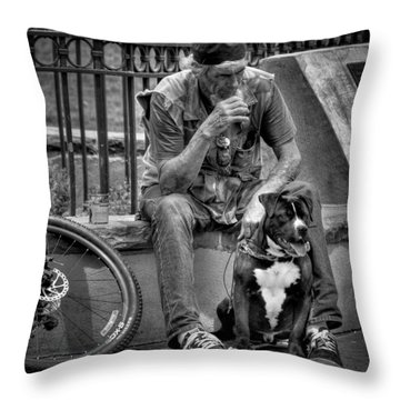 His Best Friend II Throw Pillow by David Patterson