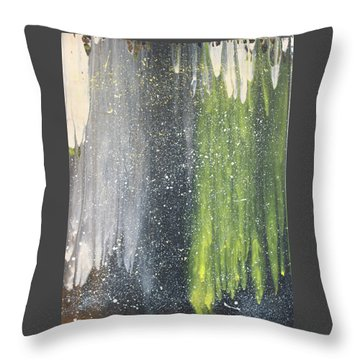 His World Throw Pillow by Cyrionna The Cyerial Artist