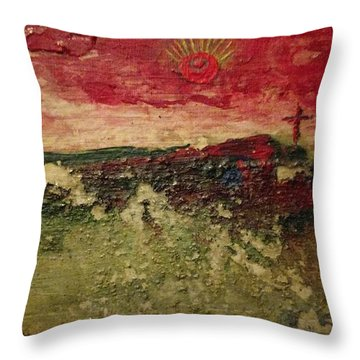 His Crucifiction Throw Pillow