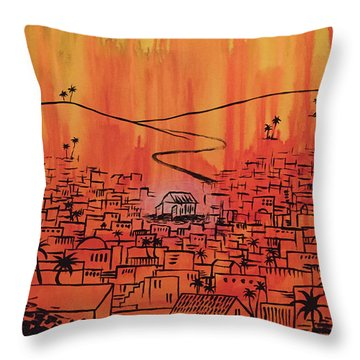 Throw Pillow featuring the painting His Delight by Nathan Rhoads