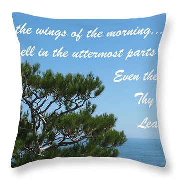 His Hand Shall Lead You Throw Pillow by Doreen Whitelock