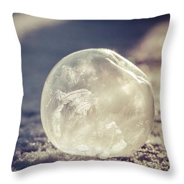 His Heart Was Always Warm Throw Pillow by Yvette Van Teeffelen