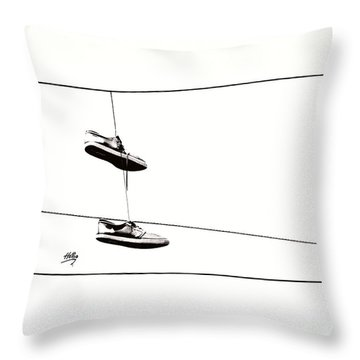 Throw Pillow featuring the photograph His by Linda Hollis